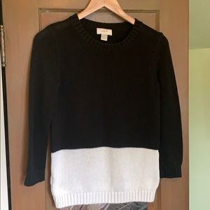 Black & White LOFT color block sweater